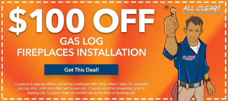 discount on gas log fireplace installation in Essex County, NJ