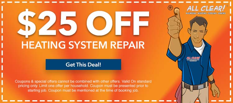 discount on heating system repair in Essex County, NJ