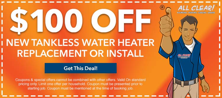 tankless water heater replacement or installation in Essex County, NJ